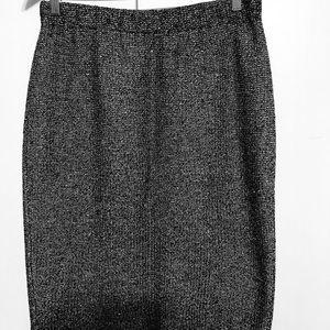 St. john Skirt, Gray with Gold flecks, Sz 10